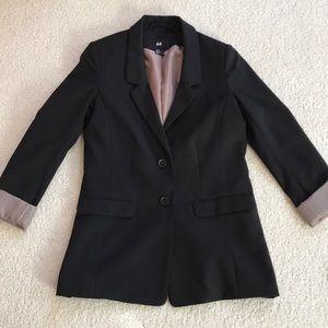 H&M black fitted blazer jacket 6